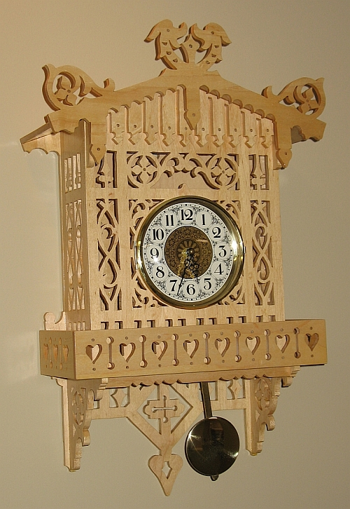 The Dale Maley Family Web Site Alpine Fretwork Clock