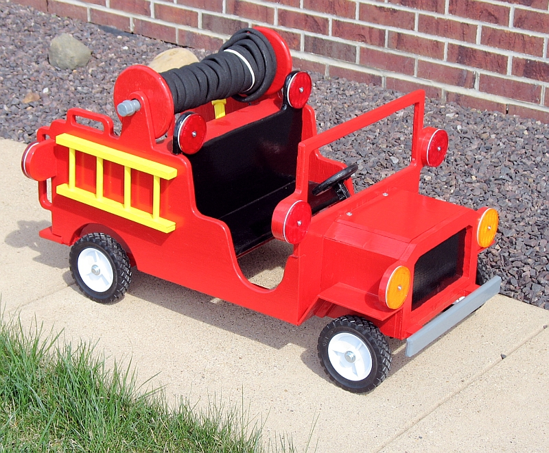 antique wood toy trucks the dale maley family web site foot powered fire truck