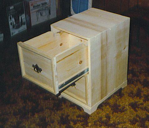 Wooden 2 Drawer Wood File Cabinet Plans PDF Plans