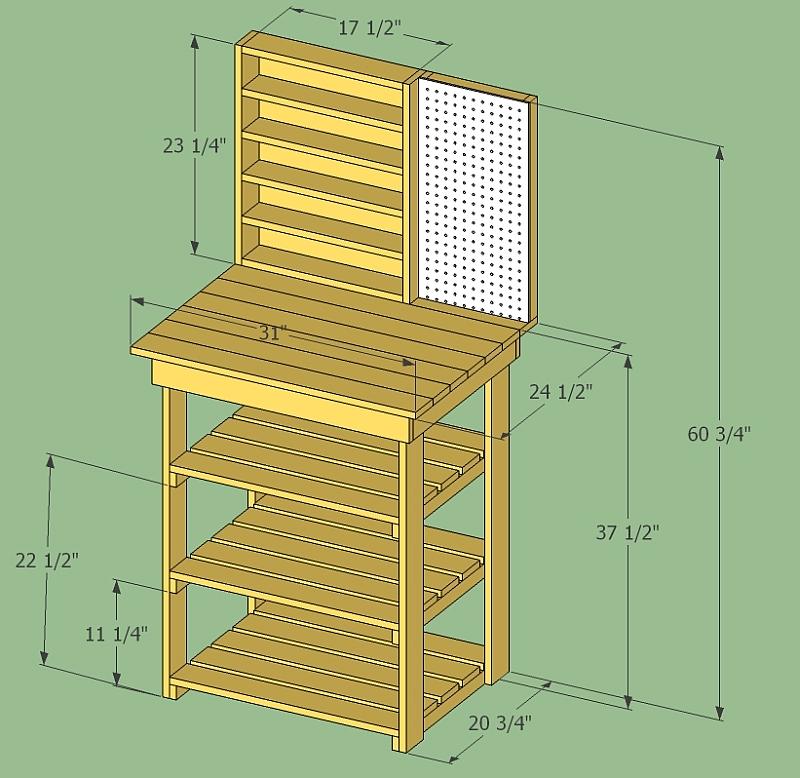 Workbench Shelf Plans Pdf Woodworking